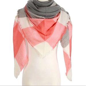Accessories - 2 Left! Cashmere Acrylic blend Plaid Blanket Scarf